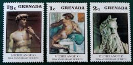 OEUVRES DE MICHEL-ANGE 1975 - NEUFS ** - YT 632/34 - MI 709/11