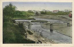 Etats-Unis - Maine - The Foot Bridge , Perkins Cove , Ogunquit - état - Etats-Unis