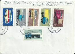 1982 DDR Complete Set Automobiles On Letter,IFA Mobile,Blankenfelde - Lettres