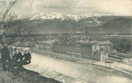 CPA      Grenoble  Vue Prise Du Pont Rabot  (animée)      455 - Grenoble