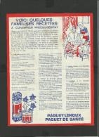 Feuillet Publicitaire  Chicorée LEROUX Orchies - Werbung