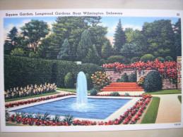 CPA USA - Etats-Unis D'Amérique - Delaware - Wilmington - Square Garden Longwood Gardens - Colorisée - Wilmington