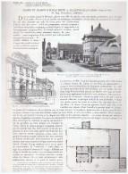 Plan D Architecte Architecture  Ecole  Mairie De ALLAINVILLE - Vieux Papiers