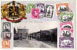 Luxembourg 4 Cartes Postales   Vallée De Buzenol Nels32n°31 Baconfoy Train à Vapeur  Grande Route Nat N°4 Bande Monument - Tenneville