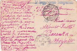Italy 1915 Military Mail, Postale Militare 5a Divisione, 30 Reggimento Genio Telegrafisti - Italy