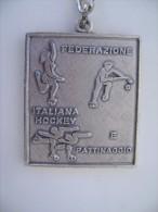 PORTACHIAVI   1975  LECCE  S. PASQUALE  FEDERAZIONE ITALIANA  HOCKEY  E PATTINAGGIO  PATINAGE  MEDAGLIA - Patinage Artistique
