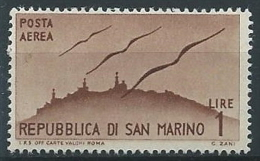 1946 SAN MARINO POSTA AEREA VEDUTE 1 LIRA MNH ** - ED777-2 - Posta Aerea