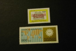 Argentina 1314-15 Naval Observatory Ovpt Bahia Philatelic And Numismatic MNH 1981  A04s - Argentina