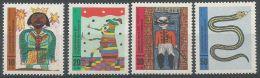 Allemagne RFA 1971 524 - 527 ** Dessins - Roi Nègre - Puce - Chat Botté - Serpent - Childhood & Youth