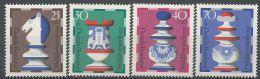 Allemagne RFA 1972 592 - 595 ** Jeu �checs - Cavalier - Tour - Reine - Roi