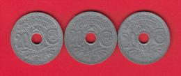 20 Centimes Lindauer En Zinc - Lot De 3 Pièces: 1945 - 1946(2) - France