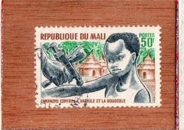 REP  DU  MALI  --  CAMPAGNE  CONTRE LA VARIOLE  ET LA  ROUGEOLE   --  **  50 F. **  --  POSTE 1969  --  BEG - Mali (1959-...)