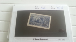 LOT 217885 TIMBRE DE FRANCE NEUF** N�402 VALEUR 27 EUROS