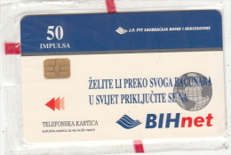 BOSNIA - BIHnet(50 Units), 03/98, Mint - Bosnia