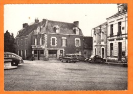 BONNAT - Creuse 23 - La Place Et L´Hotel De Ville - Autos Voitures Hotel Central - Frankreich