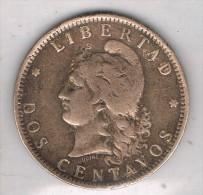 Moneda 2 Centavos ARGENTINA 1890, Libertad - Argentina