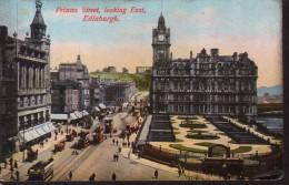 "Old Postcard : ""Princes Street, Looking East, Edinburgh"" Scotland, North British Railway Official C - Midlothian/ Edinburgh"