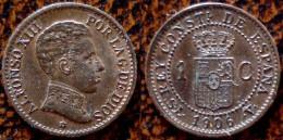 (J) ESPAÑA - SPAIN - Alfonso XIII:  Céntimo 1906-6 AU (50) - [ 1] …-1931 : Royaume