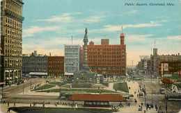 224057-Ohio, Cleveland, Public Square, Braun Post Card Co No A-11314