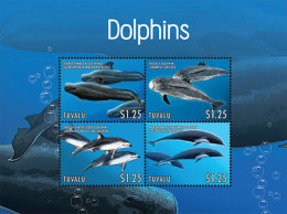 TUVALU  1249 ;  IGPC 1312 SH ; MINT N H STAMPS ( DOLPHINS - Tuvalu