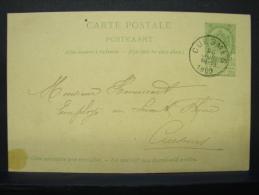 EP. 17. 5 Centimes .Cuesmes 1902. Mr Hennecart Employé Au Levant Du Flénu - Entiers Postaux