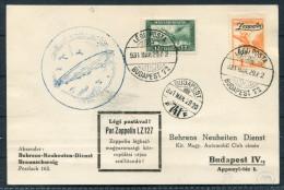 1931 Hungary Budapest Zeppelin Flight LZ 127 Postcard