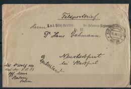 Feldpostbrief (1917), K. U. K. Ersatz-Bataillon Des Infanterie-Regiments Nr. 93 Nach Staßfurt (Sachsen-Anhalt) Gelaufen - 1850-1918 Empire