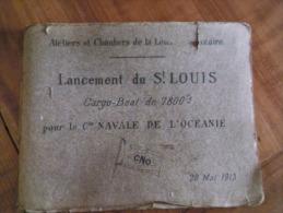 album du lancement du SAINT -LOUIS � SAINT - NAZAIRE 1913