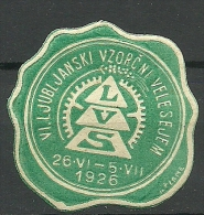 TSCHECHOSLOWAKEI 1926 Cinderella Vignette Siegelmarke V. Ljubljanski MNH - Cecoslovacchia