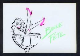 *Bonne Fête* Ed. Danhilo, Paris Nº 11. Postal Editada En Plastico. Nueva. - Otros