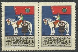 TSCHECHOSLOWAKEI 1914 Cinderella Poster Stamp Vignette Holesove In Pair MNH - Tchécoslovaquie