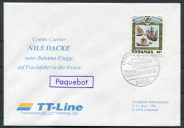 1993 Bahamas TT Line Travemunde Trelleborg NILS DACKE Paquebot Ship Cover - Bahamas (1973-...)