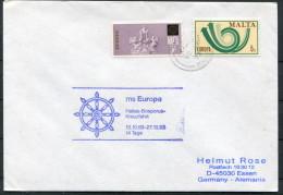 1993 Malta M/S EUROPA Ship Cover - Malta