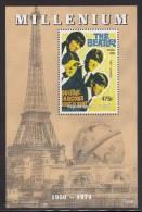 Chad MNH Millenium Souvenir Sheet 475fr 1964 The Beatles - Unauthorized - Musique