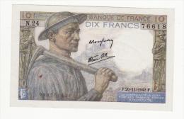 FRANCE   Billet De 10 Francs    26 Novembre 1942 - 10 F 1941-1949 ''Mineur''