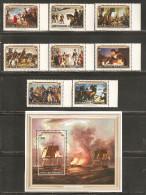 Rwanda 1976 Mi# 783-790, Block 71 A ** MNH - American Bicentennial / Paintings