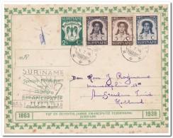 Suriname 1938, emancipatie herdenkings-comite stempel 1-7-38