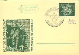1961  50th Ann Scouting In Germany  Unaddressed FDC Card - BRD