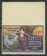 USA 1915 Panama Pacific Int. Exhibition San Fransisco 1 Side Imperforate MNH - Unused Stamps