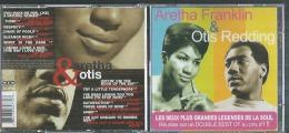 """2 CD -  ARETHA FRANKLIN & OTIS REDDING  """" LES DEUX PLUS GRANDES LEGENDES DE LA SOUL """"  28 TITRES - Music & Instruments"""
