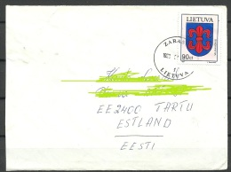 LITAUEN Lithuania Litva Lietuva 1999 Brief Nach Estland - Lithuania