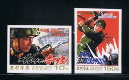 NORTH KOREA 2013 COMMUNIST ANTI-US STRUGGLE SET IMPERFORATED - Militaria