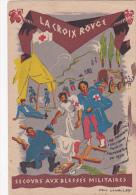 CPSM Secours Aux Blessées Militaires Red-Cross Brancardier Attelage Illustrateur P. LAVALLEY - Croix-Rouge