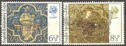 Grande Bretagne - 1976 - Tapisseries Médiévales  - YT 813 Et 814 Oblitérés - Textiel