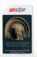 Scheda Telefonica SIP - Serie Turistica - Testa Femminile Acropoli Di Lanuvio - Pubbliche Speciali O Commemorative