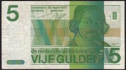 """Pays Bas-Netherlands  5 Gulden """" Vondel II """" 28-3-1973  -NR:5162433786 - [2] 1815-… : Royaume Des Pays-Bas"""