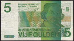 "Pays Bas-Netherlands  5 Gulden "" Vondel II "" 28-3-1973  -NR:5162433786 - [2] 1815-… : Reino De Países Bajos"