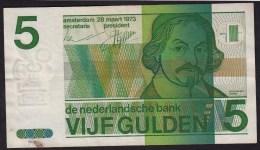 "Pays Bas-Netherlands  5 Gulden "" Vondel II "" 28-3-1973  -NR:4996411371 - 5 Florín Holandés (gulden)"