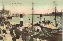 SEINE MARITIME 76.LE TREPORT EMBARQUEMENT POUR LA PROMENADE - Le Treport