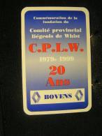 Playcard -  Dos De Carte A Jouer,1 Cartes Avec Publicitè - Garage Boven ( Renauld ) . - - Cartes à Jouer